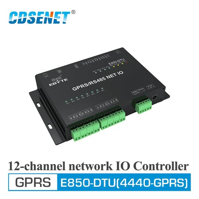 E850 DTU (4440 GPRS) GPRS Modem ModBus RTU TCP 12 Canali di Rete IO Controller RS485 Interfaccia