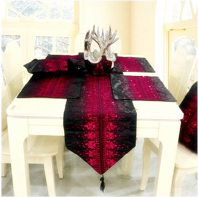 Wholesale Lace Table Runner Bling Bling Table Cover Table Cloth High