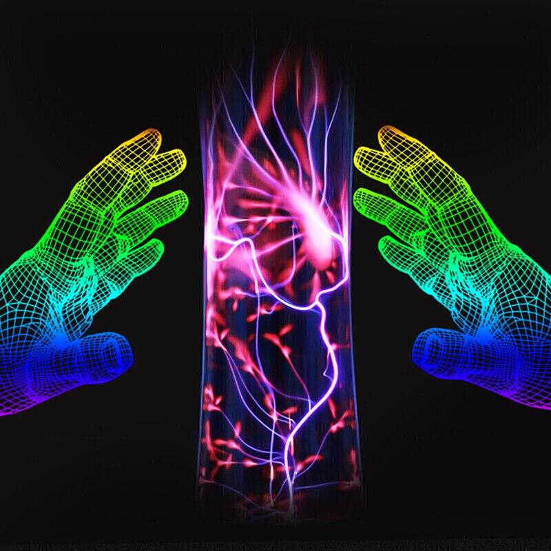 Творческий лампа USB Plasma Ball Магический кристалл лампа Сфера электростатический светодиодный ночь украшения огни 12 В праздники Атмосфера лам... ...