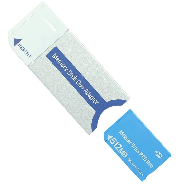 PSP למעלה 32MB 64MB 128MB 256MB 512MB 1GB Memory Stick Pro Duo Memory Card עבור PSP / מצלמה עם זיכרון Stick כרטיס MS Pro Duo מתאם (5)