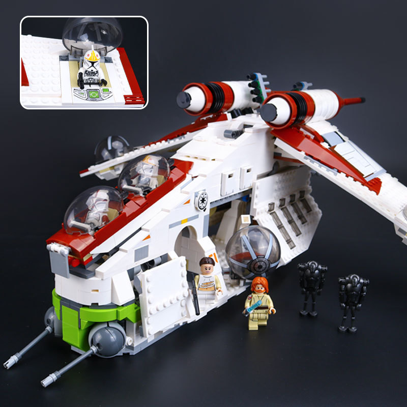 LEPIN 05041 Star Wars The Republic Gunship Model Building Block Toys 1175Pcs Figure Gift For Children Compatible Legoe 75021e