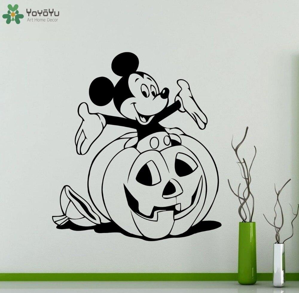 Halloween Mickey Maus Wandtattoo Cartoon Aniaml Kürbis Muster Vinyl ...