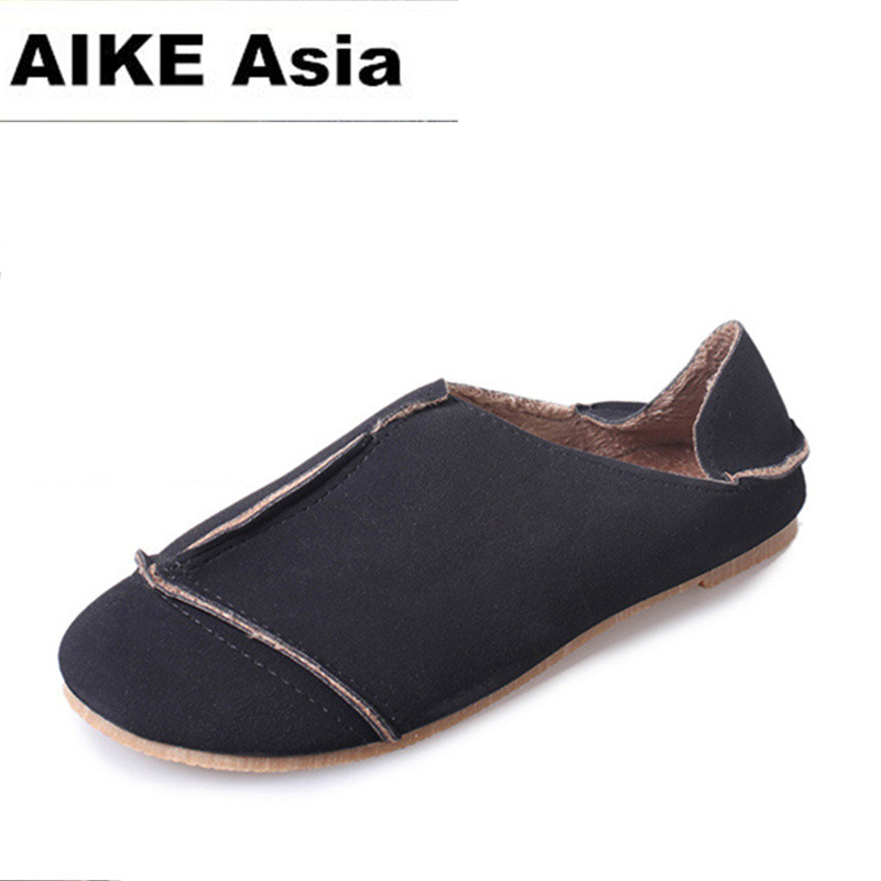 2018 New Fashion Casual Women Flats Shoes Leisure Solid Shoes Breathable Loafers Ladies Flats Shoes Loafers Ladies Driving