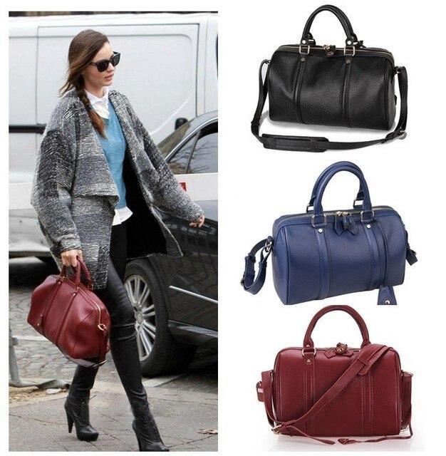 ad80811b951d Women s Vintage Celebrity Leather Boston Bowling Bowler Top Handle Sling Bag  Handbag