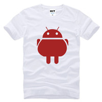 Android Robot Funny Cool Creative Mens Men T Shirt Tshirt 2016 New Short Sleeve O Neck