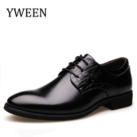 YWEEN New Arrival Men Black Patent Leather Shoes Party And Wedding Men Dress Shoes Handmade Men