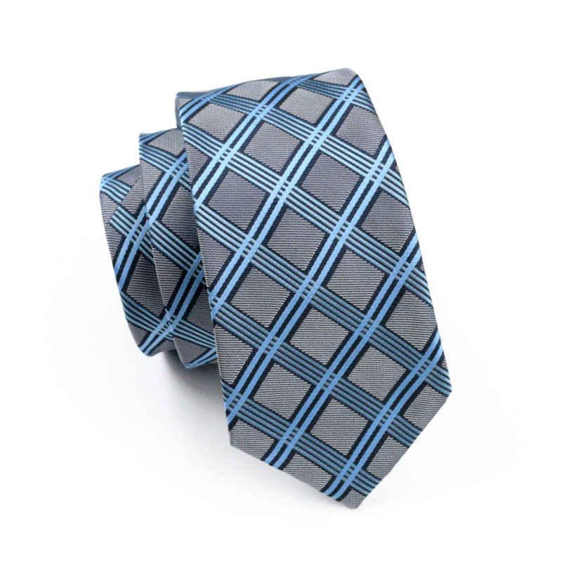 LS-400 Sıcak Kravatlar Için Adam Ekose Klasik % 100% İpek Jakarlı Dokuma Kravat Hanky kol düğmesi seti Erkekler Örgün Düğün Partisi Için Ücretsiz posta