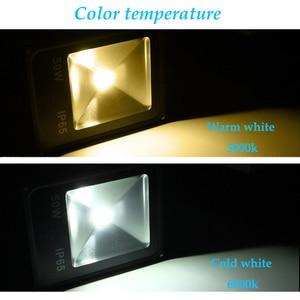 Image 4 - AC110V 220 Ultradunne 10 w 20 w 30 w 50 w LED Schijnwerper Met PIR Motion Sensor Detector waterdicht Spotlight outdoor IP65 Lampen