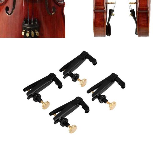 4 pièces 4/4-3/4 violon professionnel utilisation fer plaqué violon accordeurs fins Spinner ajusteur cordes crochets pour violon Instrument de musique