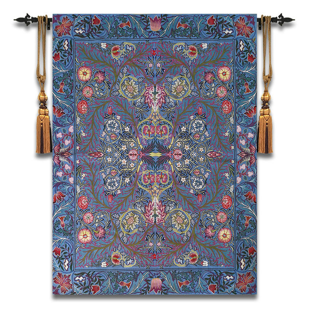 102x140cm William Morris Works Tapestry Aubusson Cotton Wall Carpet