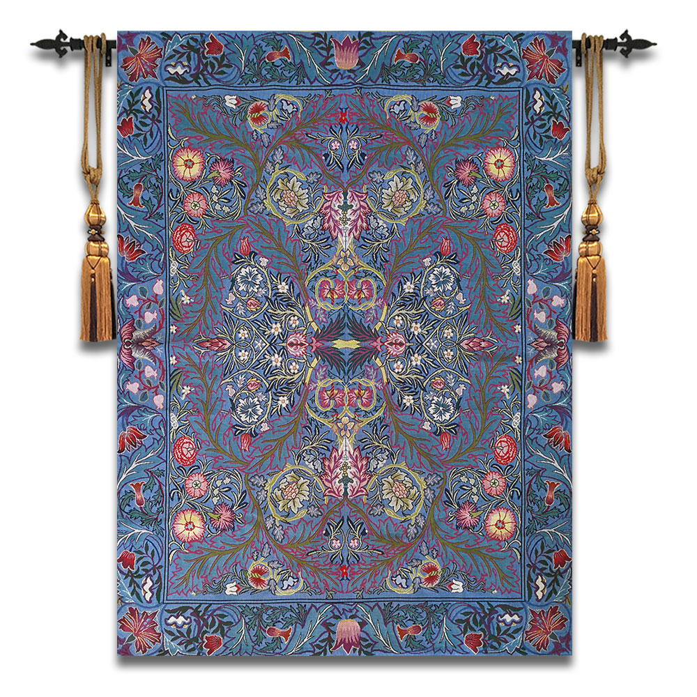 102x140cm William Morris Works Tapestry Aubusson Cotton Wall Carpet Moroccan Decor Modern Home Decor fabric Decorative Wall Rugs