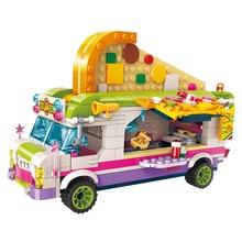 ENLIGHTEN Girls City Friends Princess Pizza Dining Car Van Bus Building Blocks Sets Kids Toys Bricks цены онлайн