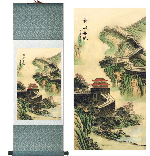 landscape painting Home Office Decoration Chinese scroll painting ...