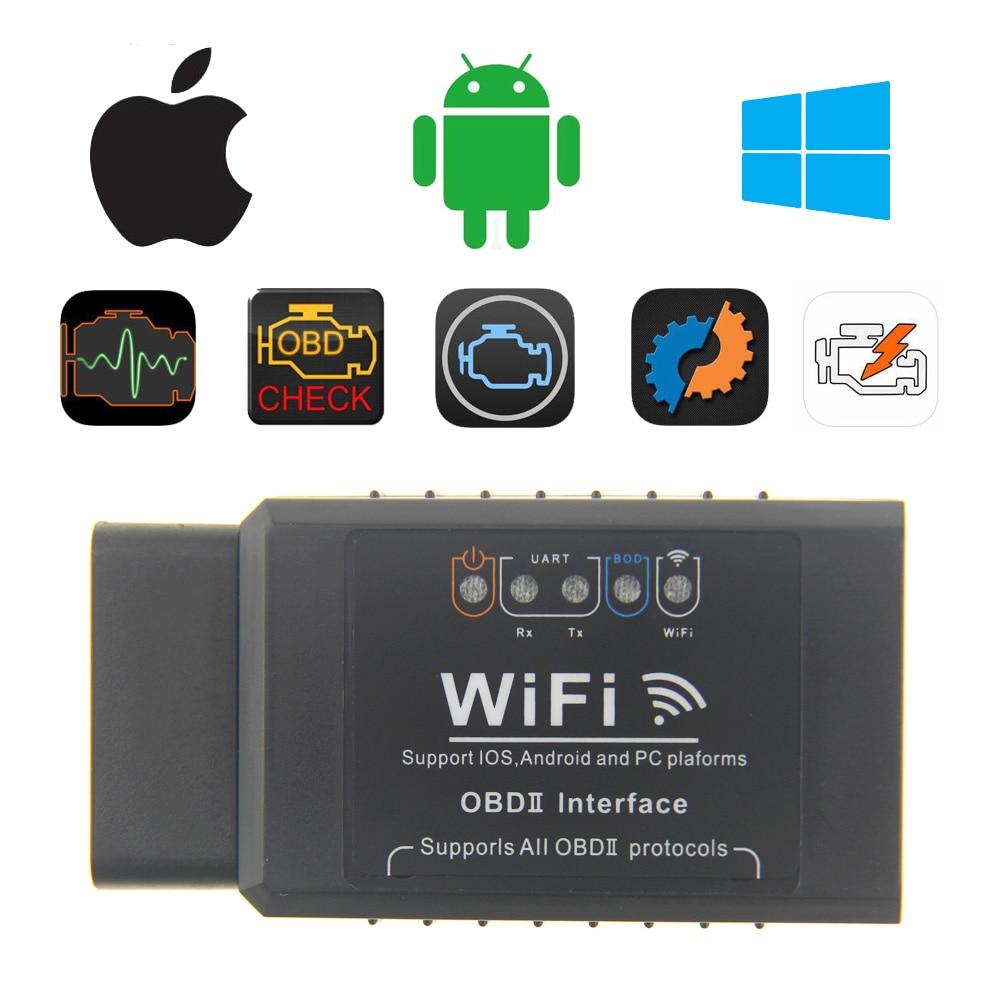 100% QualitäT Pic18f25k80 Elm327 Wifi V1.5 Obd2 Auto Code Reader Wi-fi Ulme 327 Für Iphone Ios Android Obdii Auto Diagnose Automotive Scanner