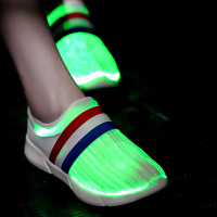 Usb Recharging 7 Colors Flashing Fiber Optic Light Up Shoes Led Luminous Sneakers Glowing Boy Girl Led Slippers Women Running