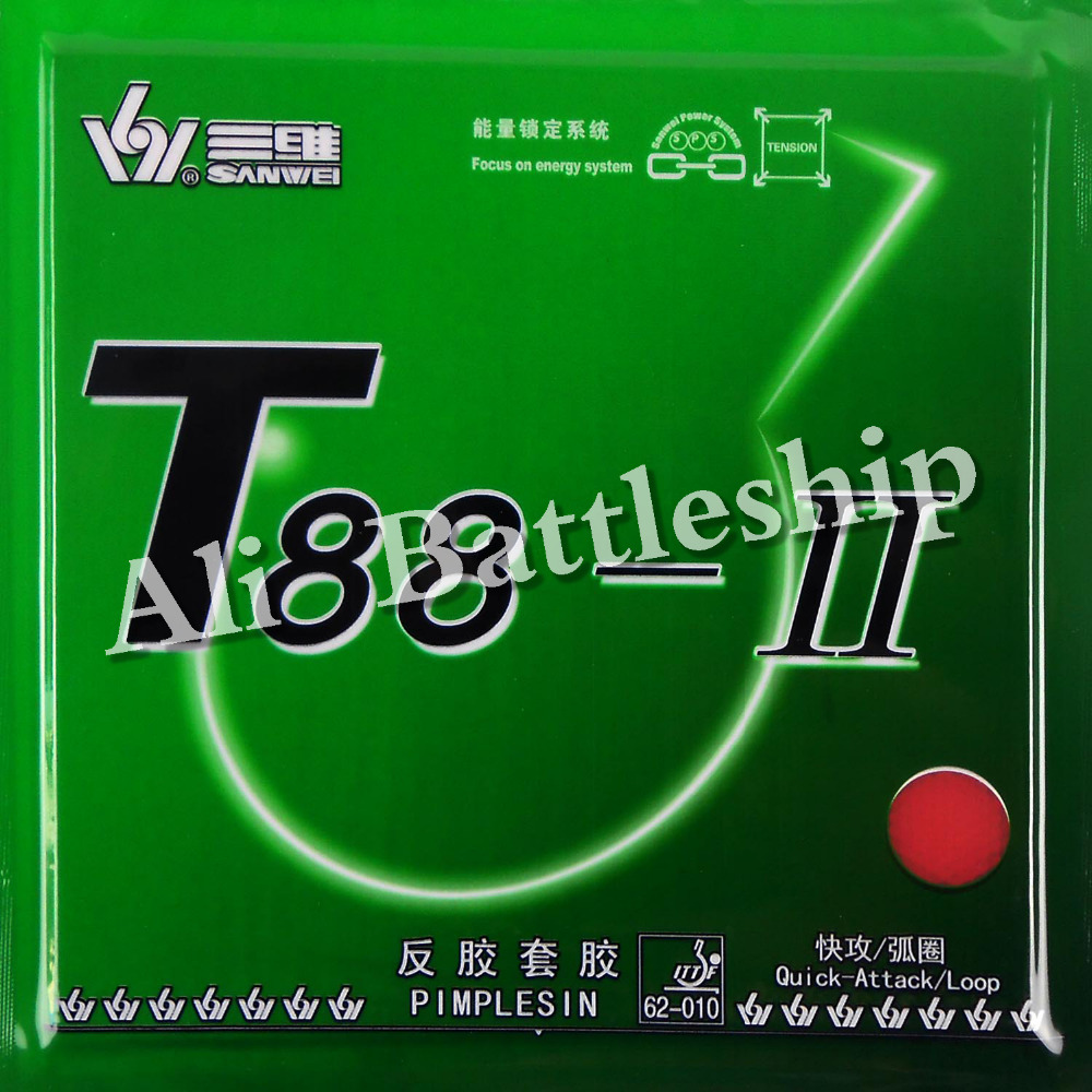 Original Sanwei T88-II T88-2 Pips-in Table Tennis Rubber With Sponge For Ping Pong Racket