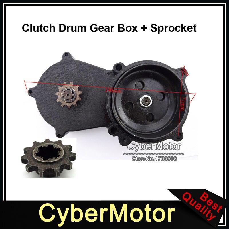 Mini moto pièces de moteur T8F Double chaîne embrayage tambour boîte de vitesses pignon 11 dents pour 2 temps 47cc 49cc chinois Mini moto Dirt Bike