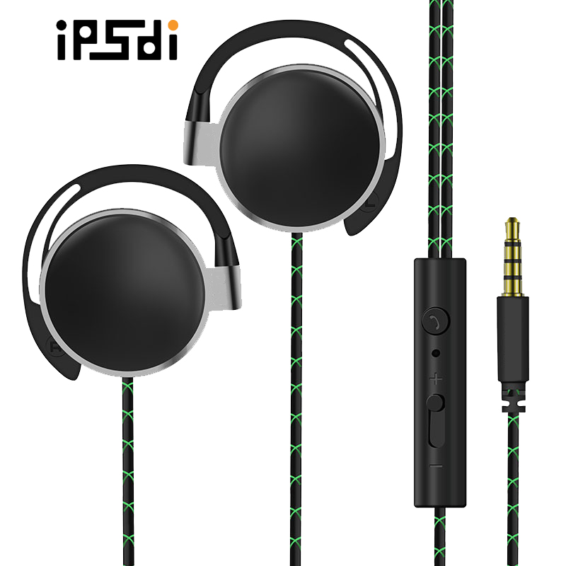 Ipsdi headphones Ep1205 waterproof wired gaming headphone headset sports bass MP3 earphone with mic for phone iPhone xiaomi