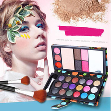 18 color liquid  eye shadows + 2 blush + pressed powder+3 Lip frozen + 2 Eyebrow Professional Makeup Sets naked  Eyeshadow 25613
