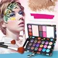 Líquido cor 18 sombras de olho + 2 blush + pó compacto + 3 lábio congelado + 2 sobrancelha maquiagem profissional define naked eyeshadow 25613