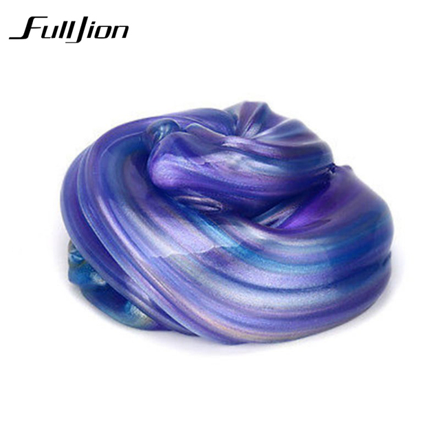 Fulljion Modeling Clay Crystal Ball Slime Polymer Play Doh Toys For Children Fimo Fluffy Clear Slime Diy Putty Mud Dough Blowing