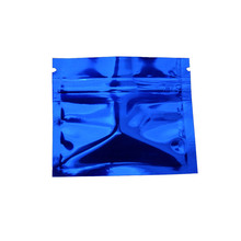 200pcs 7.5*6cm Small Reclosable Zip Lock Package Bags Coffee Powder Pill Sample Smell Proof Zipper Ziplock Mylar Pouch Food