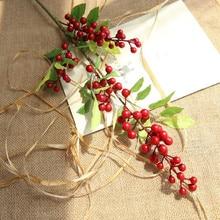 Christmas Berry Artificial Flower Small Fresh Fake Flowers Arrangement Home Decoration Wedding
