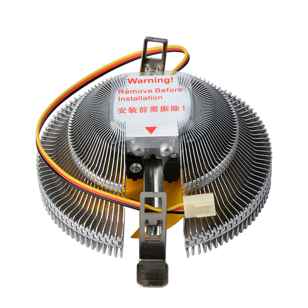 High Quality Efficient Heat Dissipation 3Pin DC 12V PC CPU Cooler Cooling Fan for Intel LGA775 1155 AMD AM2 AM3 754 Heatsink cpu cooling cooler fan heatsink 7 blade for intel lga 775 1155 1156 amd 754 am2 levert dropship sz0227
