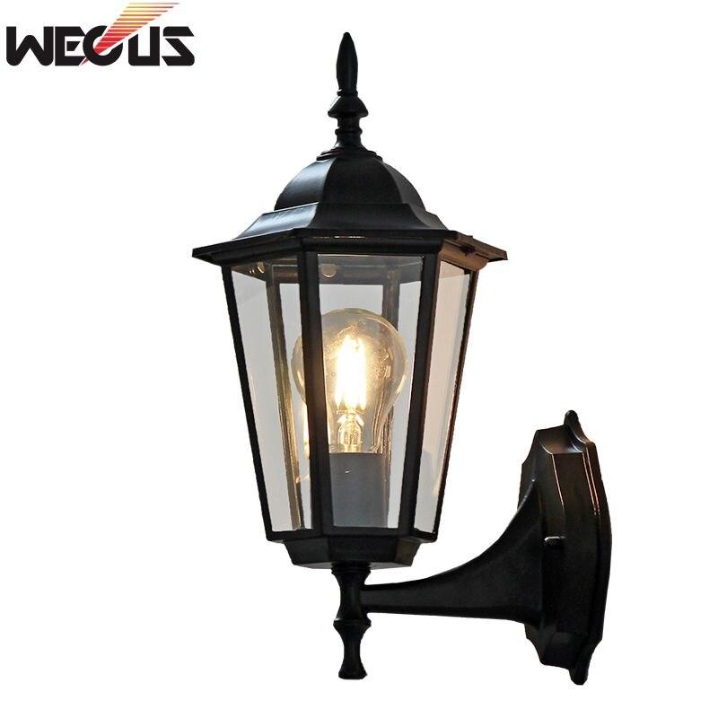 (WECUS) Europäischen stil der alten wand, wasserdichte outdoor terrasse/Villa balkon lampe, ohne lichtquelle
