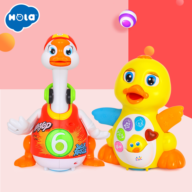 Dancing Duck with Light/Music/Electric Universal & Swing Goose with Light/Music(3 colors assorted)