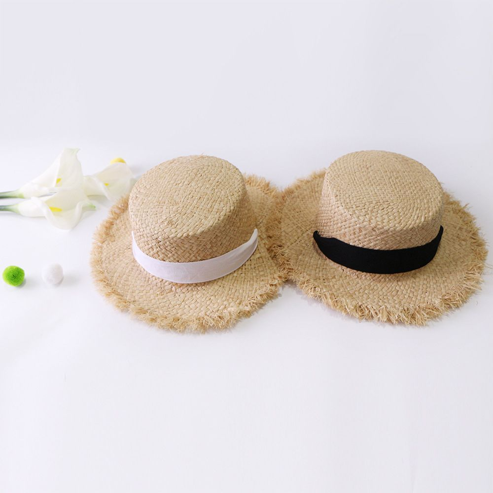 2019 Handmade Weave Raffia Sun Hats For Women Summer Women Outdoors Sunshade Straw Hat Beach Hat Foldable Hat