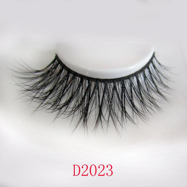 Frete grátis venda quente D2023 1 pçs/lote 3D grosso de cílios pele de vison