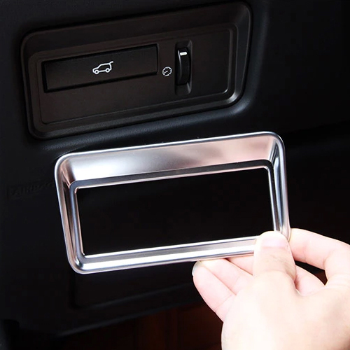 DWCX New Chrome Interior Rear door Trunk Switch Button Panel Cover Trim Frame For Land Rover Range Rover Sport Evoque 2013 + wiper blades for land rover range rover evoque 23