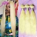 Blonde Honey Brazilian Straight Hair 4 Bundle Deal Platinum Blonde Brazilian Virgin Hair Straight Human Weave #613 Straight Hair