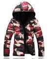 """2016 novos modelos masculinos de algodão camuflagem roupas de inverno homens """"s de algodão versão Coreana do capuz jaqueta casaco mais grosso"""