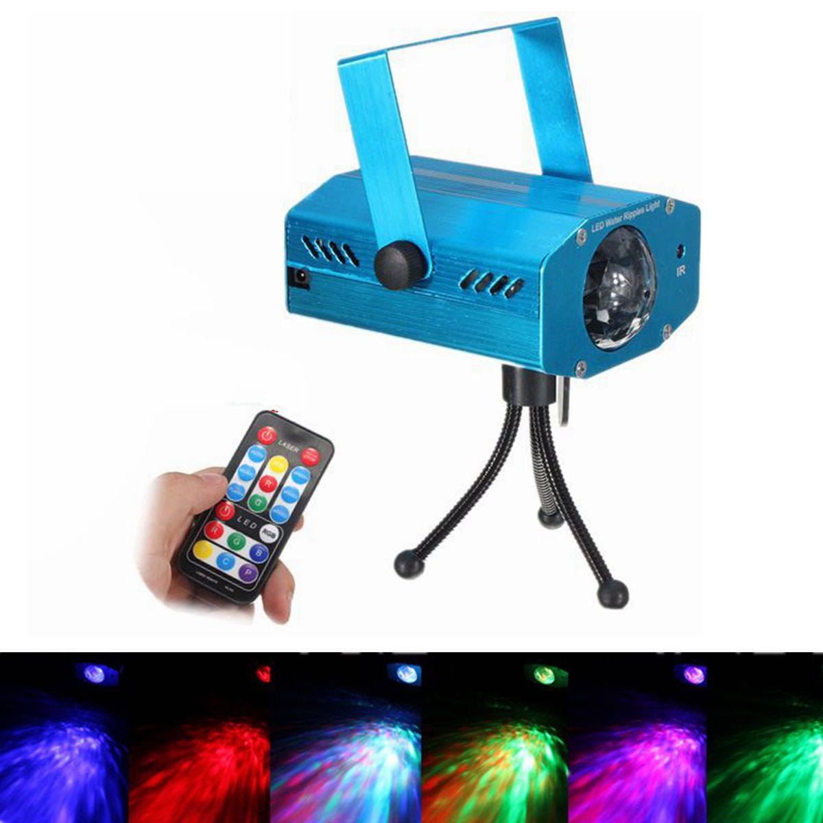 Aluminium LED RGB Voice Control Strobe Projector Laser Stage Light Night Lamp Disco Club KTV Wedding Party Show Lighting Effect w188a led rgb voice control stage light lamp for ktv bar party white