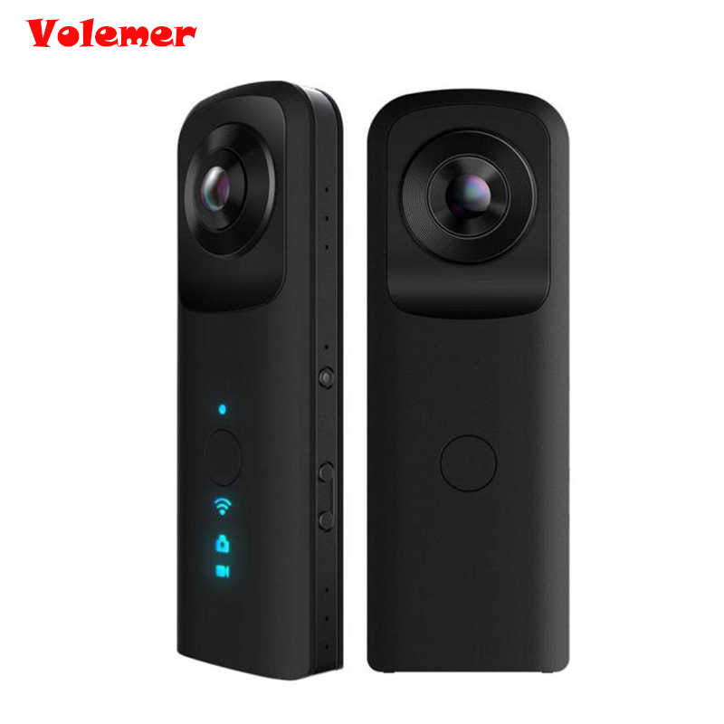 Volemer Newest Panorama WIFI 4K Mini Camera 360 degree Sport DV Waterproof Action Camera Wireless 3D Outdoor Recorder Camcorder
