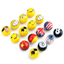 1 Set 4 Pieces Snooker NO. 8 Black Ball & Emoji Car Tire Valve Caps Sports Bicycle For Bikes Auto Accessories