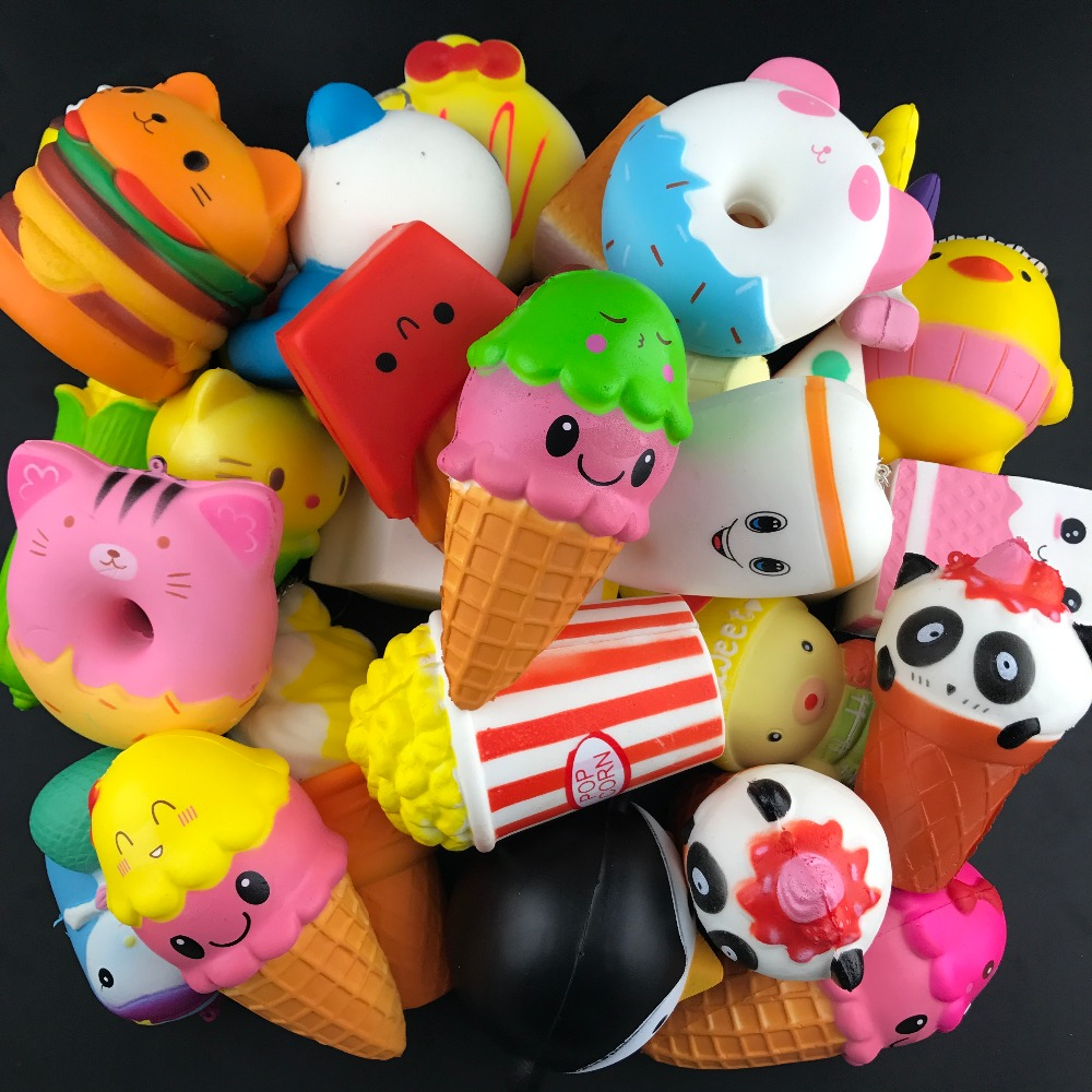 200pcs/lot Popcorn Cup Squishy Slow Rising Antistress Fun Phone Charm Gift Strap Toy baby toys Relieve Stress Gift squeeze toys