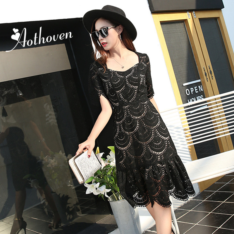 2018 Summer Runway Show Women Dress Lace Short Sleeves Sexy Party Dress Bodycon Bandage  ...