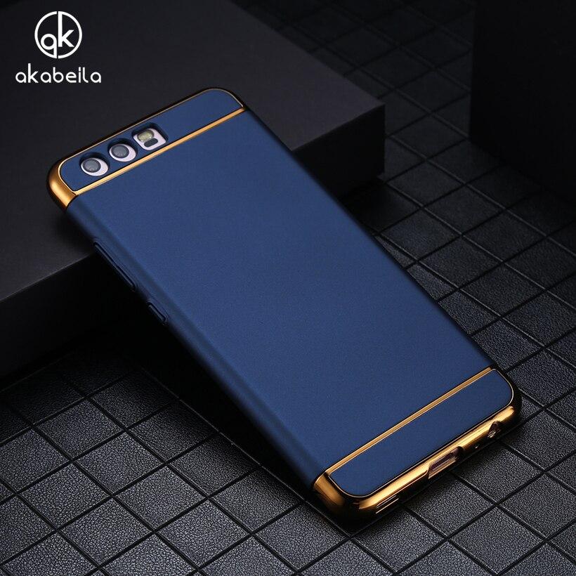 AKABEILA Phone Case For Huawei P10 Victoria VTR-L09 VTR-L29 VTR-AL00 VTR-TL00 4G LTE Covers Plating Hard PC Plastic Cases