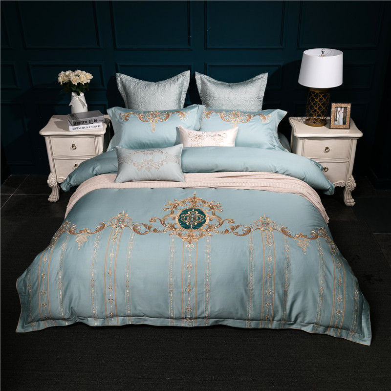 Luxury Egyptian cotton Oriental embroidered Bedding set King Queen Size  Bed set Duvet cover bed sheet set bed cover 36Luxury Egyptian cotton Oriental embroidered Bedding set King Queen Size  Bed set Duvet cover bed sheet set bed cover 36