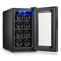 4 Layers Large capacity 8 red wine cabinets Constant Temperature Wine Refrigerator Commercial Bar Wine Cabinet Home Small Tea