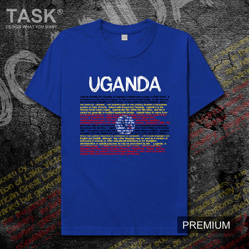 Uganda Ugandan <font><b>UGA</b></font> mens t shirt new Tops t-shirt Short sleeve clothes sweatshirt national team country <font><b>jerseys</b></font> sports summer image