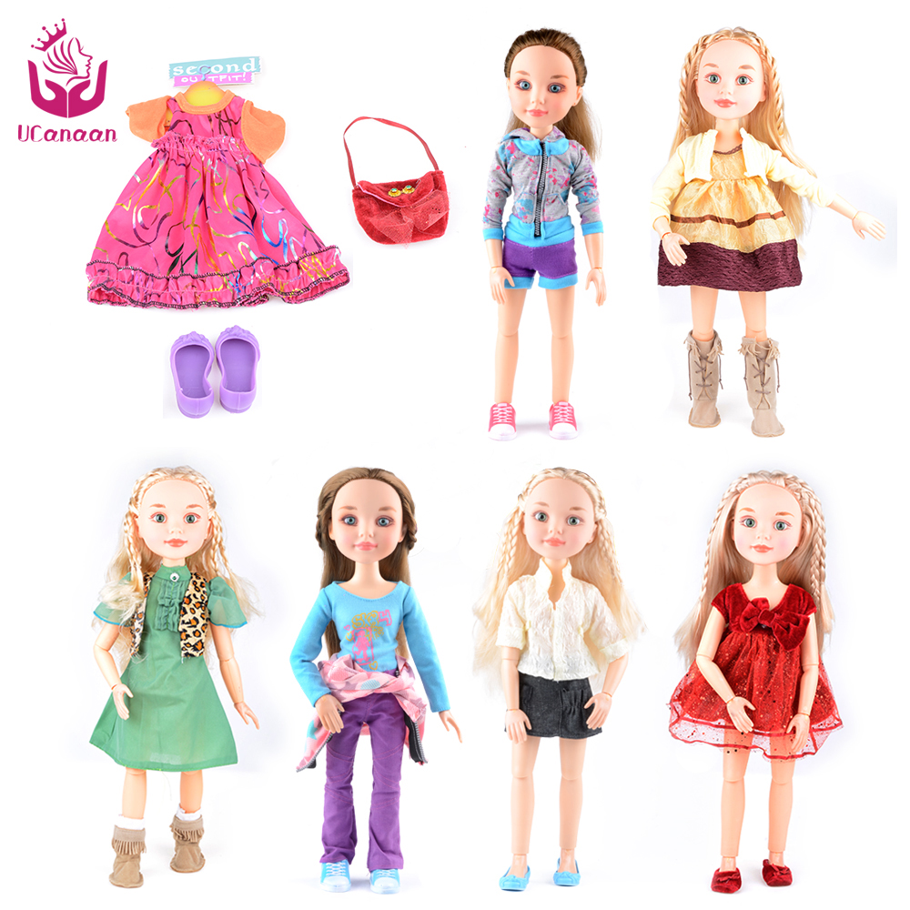 UCanaan Russia Princess Girl Doll 14-Joint Body Realistic Real bjd Dolls Reborn baby American Girl Toys for Girls 18/45cm ucanaan 1 3 bjd sd doll beauty and the beast girls dolls with outfit dress wig makeup princess doll for children new year gifts