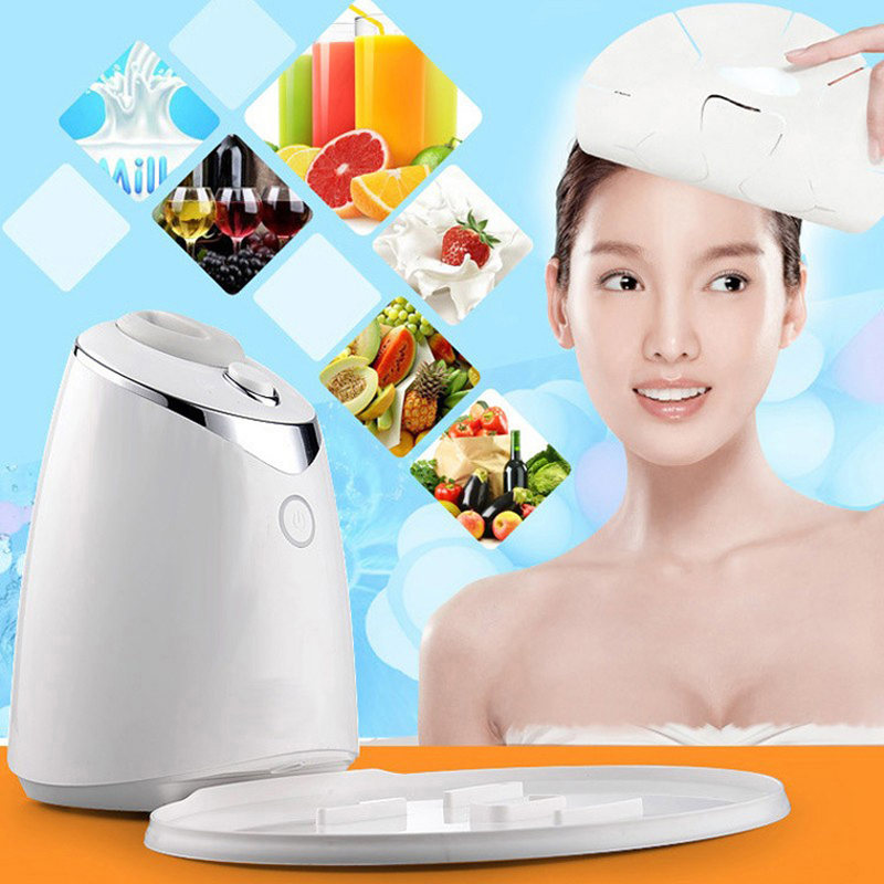 2017 Electric Facial Natural Fruit Milk Mask Machine Automatic Face Mask Maker DIY Beauty Skin Body Care Tool Include Collagen diy natural face mask machine automatic fruit facial mask maker vegetable collagen mask english voice machine face skin care