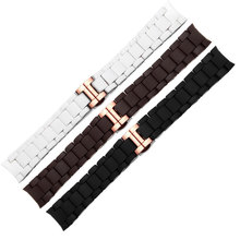 5502c2a0d4a1 The Silicone Rubber Watchband Rose gold in Black AR silica gel for 5905  AR5890 5905 AR5919