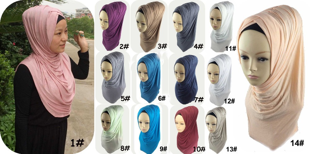 59c43d413285 ONE PIECE pull on instant muslim hijab AMIRAH PLEATED HIJAB SCARF ,can  choose colors JLS105-in Women s Scarves from Apparel Accessories on  Aliexpress.com ...