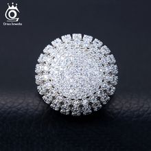 Charming Silver Color 218 Pieces 2mm AAA Zircon Full Paved Round Shaped Vintage Ring