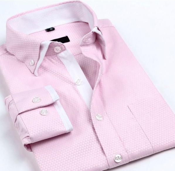 Neue Angekommene 2017 herren arbeit shirts Marke langarm-gestreiftes//twill männer hemden weiß männlichen shirts 4xl 9 farben casual hemd